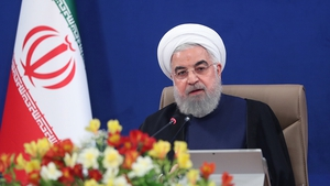Iranian President Hassan Rouhani makes a statement during Council of Ministers Meeting in Tehran on 10 June
