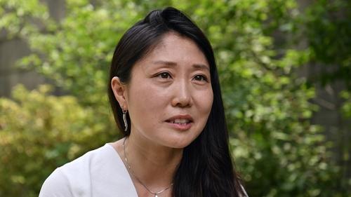 Korean-born Kara Bos grew up in Michigan