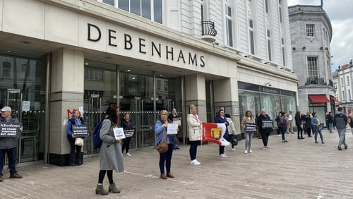 Debenhams Irish operation collapsed on 16 April 2020 with the loss of 955 jobs