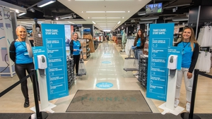 Hand sanitising stations at entrances are among the measures that Penneys has put in place