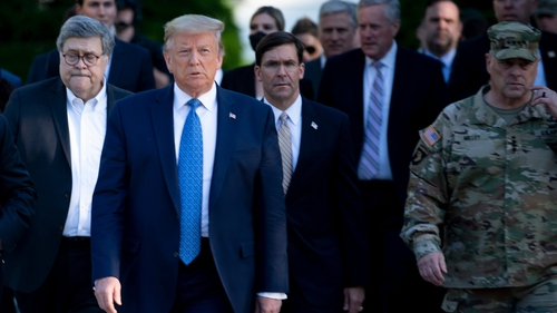 Top US general apologises for Trump photo op