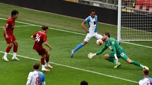 Leighton Clarkson scores Liverpool's sixth and final goal in their drubbing of Blackburn Rovers at Anfield