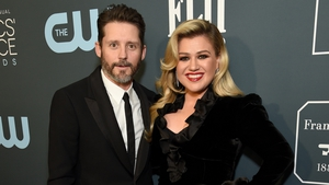 Brandon Blackstock and Kelly Clarkson, pictured in January