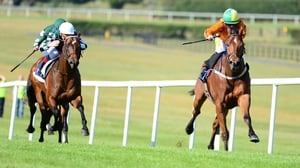Sceptical surges clear of his rivals in the Woodlands Stakes at Naas