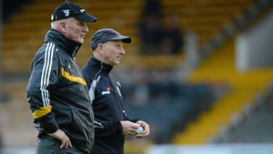 Brian Cody (L) and Martin Fogarty taking training ahead of the 2012 All-Ireland hurling final