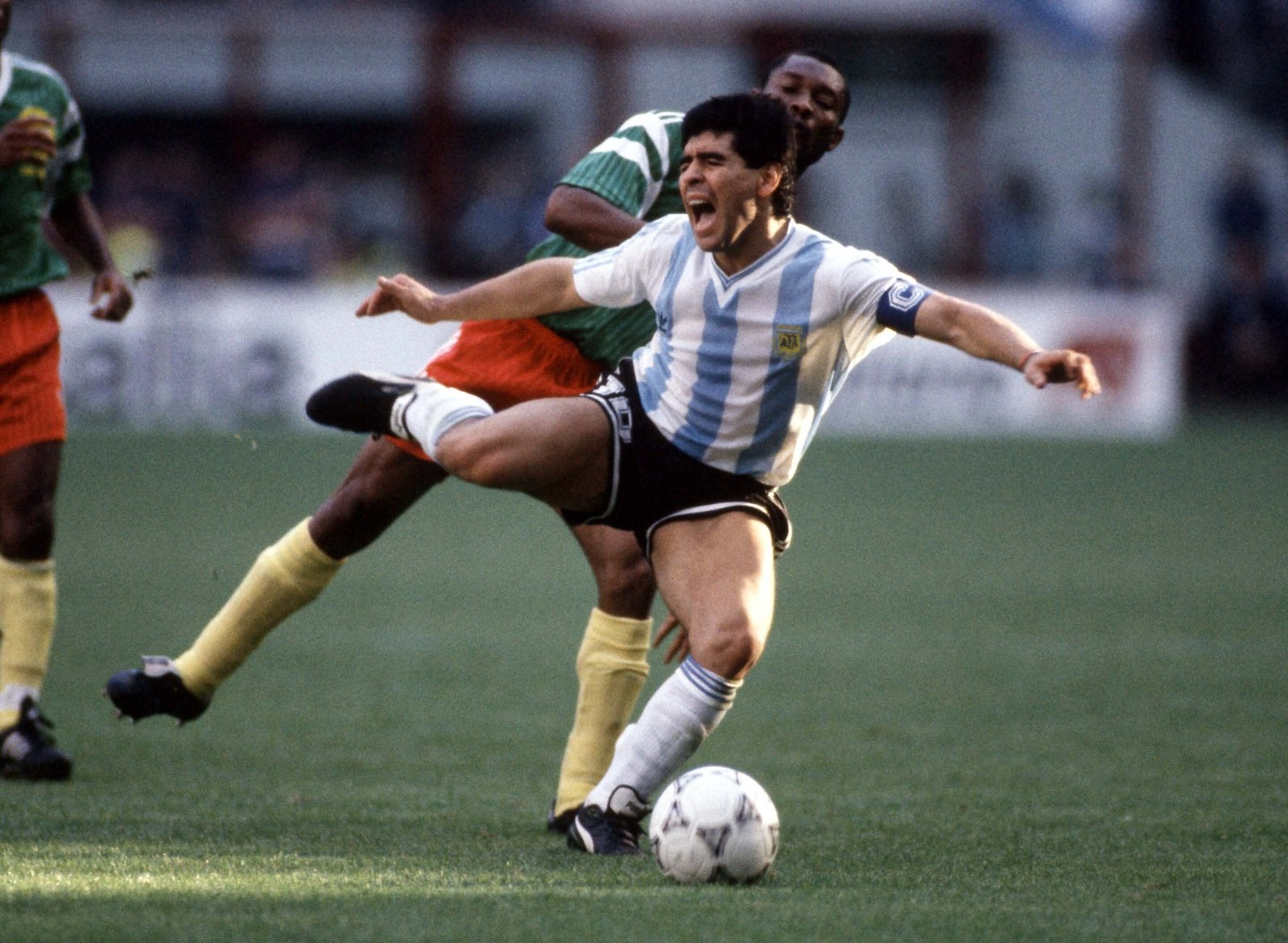 Image - Maradona found little space that day