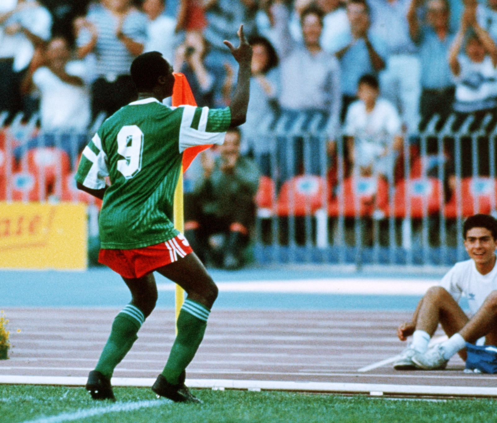 Image - Roger Milla dusts off the dance against Colombia