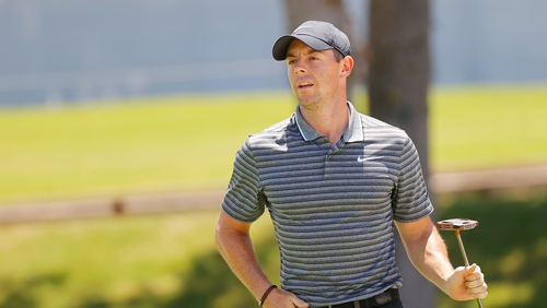 McIlroy hit an eagle on the 10th hole before finishing on nine under