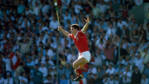 John Fitzgibbon celebrates on 2 September 1990 as he had promised on the morning of the final
