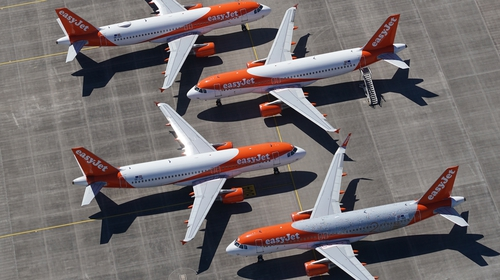 """EasyJet said late summer bookings were """"performing well"""""""