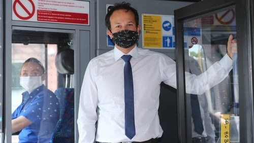 Leo Varadkar said the Government has not ruled out making face coverings mandatory in certain circumstances