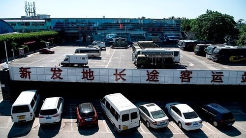A general view shows a section of the closed Xinfadi Market in Beijing where a new cluster has been discovered