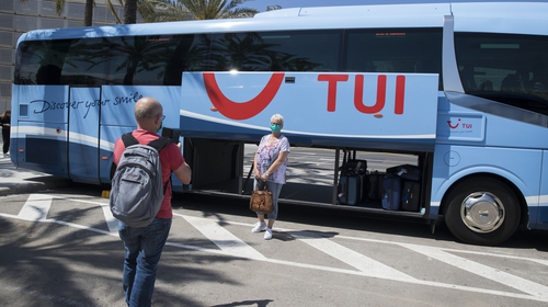 TUI's annual revenue came in 58% lower at €7.9 billion