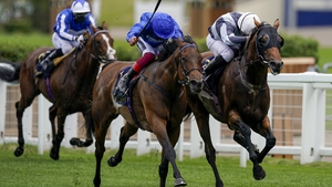 Ryan Moore riding Circus Maximus (R) win The Queen Anne Stakes
