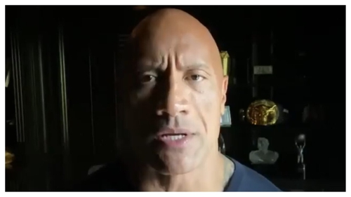 Dwayne 'The Rock' Johnson delivered a 13-minute video to students