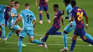 Ansu Fati's goal helped to get Barca on their way