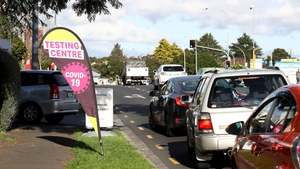 A Covid-19 test centre in Auckland (File pic: Getty Images)
