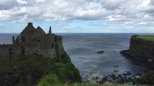 The incident occurred near Dunluce Castle in Co Antrim