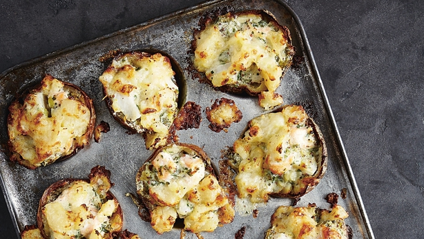 Potato skin fish pies from John Whaite's Comfort published by Kyle Books (Nassima Rothacker/PA)