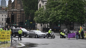 Downing Street said there were no reports of anyone being injured in the incident