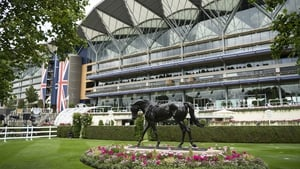 The statue of Yeats takes pride of place at Ascot