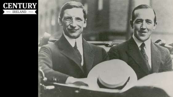 Century Ireland Issue 181 - Harry Boland (right) with Éamon de Valera during their mission to the United States Photo: UCD Library and Archive