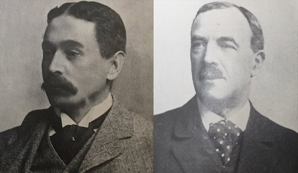 Two of the leaders of the Irish business community: John Good (Chairman) and Andre Jameson (vice-Chairman) of the Dublin Chamber of Commerce. Photo: Irish Life, 20 February 1920. Full collection available at the National Library of Ireland.