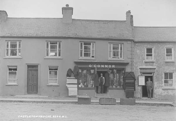 A shop in Castletownroche, the town in which an attack on two young women took place recently Photo: National Library of Ireland, L_ROY_08584