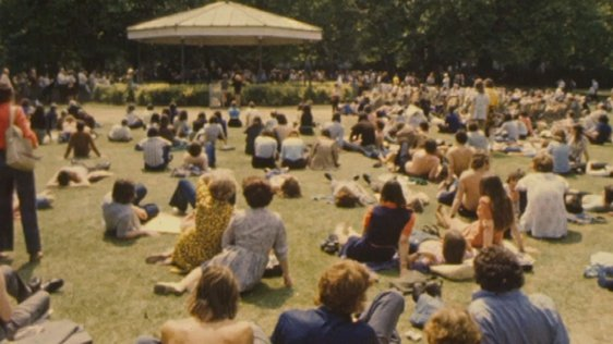 Sunshine in St Stephen's Green, Dublin, 1975.