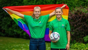 Ruesha Littlejohn (L) and Katie McCabe are preparing for club action in England in August and the Republic of Ireland's Euro 2021 qualifiers in September