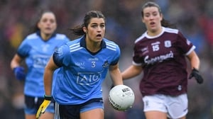 Niamh Collins of Dublin in action against Róisín Leonard of Galway in last year's All-Ireland final