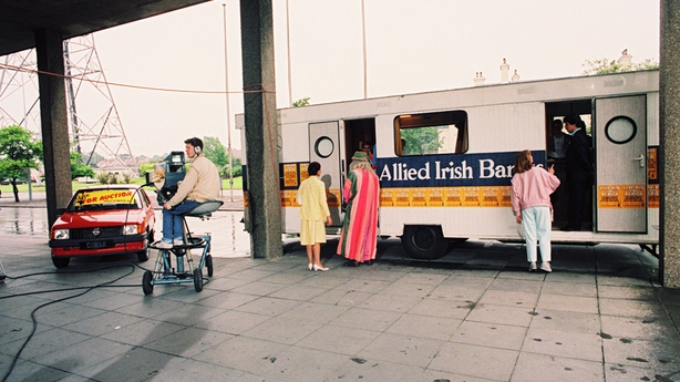 AIB Mobile Bank outside RTÉ for Live Aid (1985)