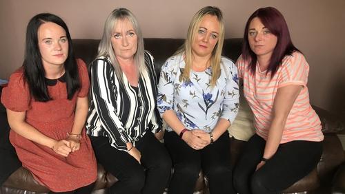 (L-R) Sisters Natalie Lee, Jackie Galligan, Sonya Lee and Aisling Lee