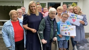 The Doyle family outside their home in Kildare Town