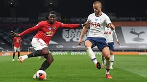 Paul Pogba drew a foul from Eric Dier to win the United penalty