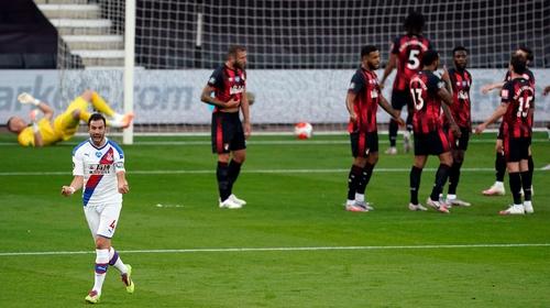 Luka Milivojevic celebrates his opening strike for Palace