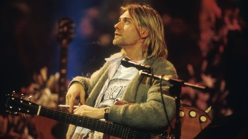 Kurt Cobain onstage at the recording of Nirvana's MTV Unplugged performance at Sony Music Studios in New York on November 18, 1993