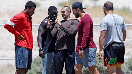 Las Vegas Raiders players have been training at close quarters in an unofficial capacity this week