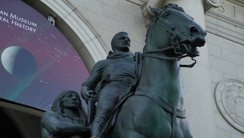 The Teddy Roosevelt statue will be removed from the Natural History Museum