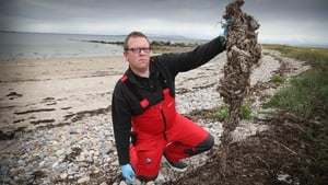 Dr Liam Morrison from NUIG at a study testing site in Grattan Beach, Galway