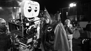 Michael Keaton on the set of 1989's Batman