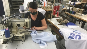 GAA jerseys being made at the Azzurri factory in Waterford