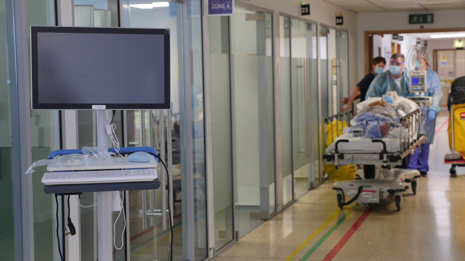 Image - The ED at St James's Hospital where cubicles have been glassed off to help protect patients