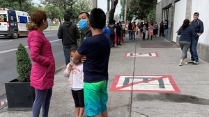 The shock wave was felt as far away as Mexico City, some 700 kilometres away, where it sent frightened residents rushing into the streets