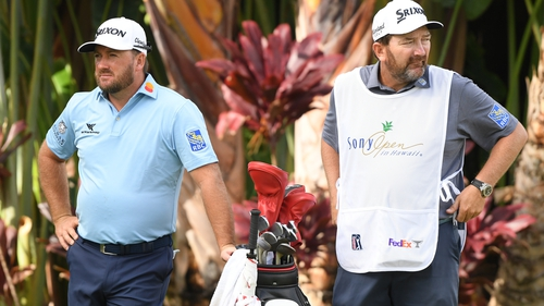 Graeme McDowell and Ken Comboy pictured in January
