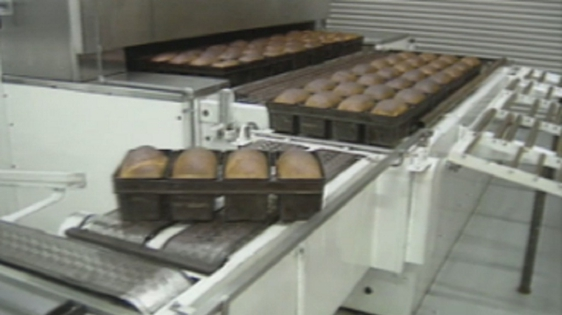 Bread production in Gallaghers Bakery, Ardara, Co. Donegal (1995)