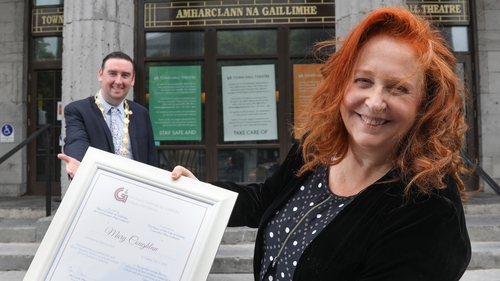 Mary Coughlan said she was 'honoured and humbled' to be given the award (Pic: Aengus McMahon)
