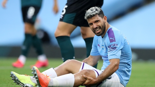 No timescale has yet been confirmed as to when Sergio Aguero can return