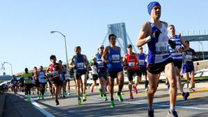 Competitors during last year's New York City Marathon
