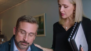 Rose Byrne with Steve Carell in Irresistible